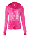 Womens Sanded Full-Zip - Floral