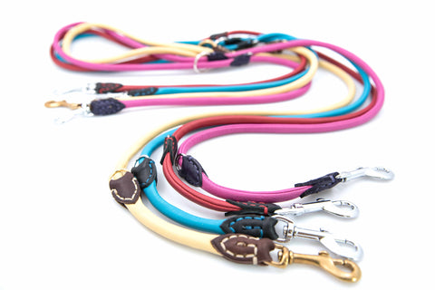 Multi Function Leather Dog Leash