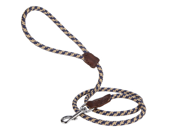 BALDY 4 FOOT Rope/leather navy/cream