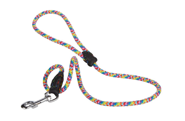 BALDY 4 Feet Rainbow Rope with a touch of Leather