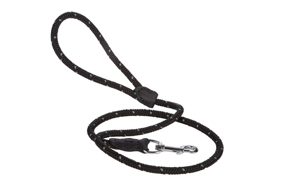 Reflective 4 Foot Rope/Leather Leash