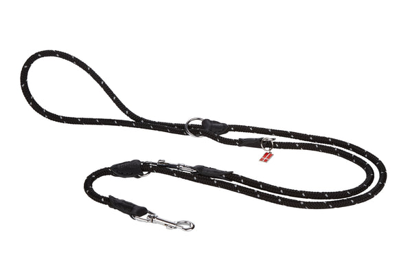 Reflective 6 in one Rope/Leather Leash