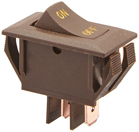 Rv Designer Collection Brown S273 Rocker Switch 10A W/Gold Text Quantity 1 Brown 601320112734