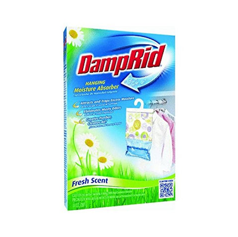Damprid Fg80 Hanging Moisture Absorber Fresh Scent 14 Oz (Pack Of 6) Pack Of 1 Blue 075919001806