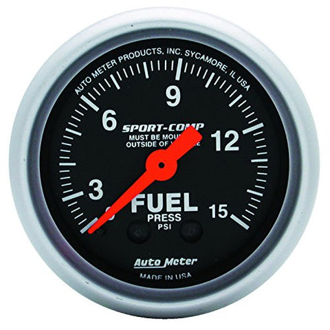 Auto Meter 3311 Sport-Comp Mechanical Fuel Pressure Gauge   046074033117