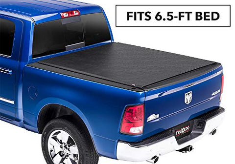 Truxedo Lo Pro Soft Roll-Up Truck Bed Tonneau Cover | 562101 | Fits 97-04 Dodge  Black 834418008293