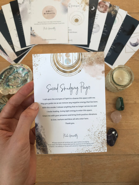 Sacred Space Ritual Cards & Calm Me Cards