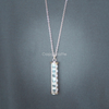 Crystal Cylinder Necklace
