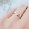 classic infinity ring in sterling silver 925, sterling infinity band, bridesmaid gift