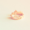 Paris ring, urban city skyline ring in gold, silver, rose gold