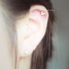 CZ Heart Cartilage Piercing_P058