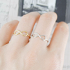 infinity ring, simple infinity band, knot ring, love infinity ring, bridesmaid gift
