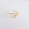 CZ arrow ring in silver or gold, cubic zircon arrow jewelry
