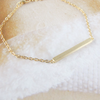 slim long bar anklet in gold or silver, gold bar anklet , silver bar anklet