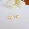 diamond shape earrings in gold or silver, casual earrings, fun jewelry