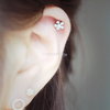 Shiny Flower Tragus Ear Piercing_P025