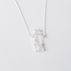 Gemini Zodiac Sign Necklace in sterling silver 925, The Twins necklace