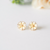 daisy earrings, cute yellow flower earrings, pink flower earrings, flower earrings, flower studs, bridesmaid gift