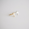 Cross ear cuff, Cross ear wrap, cross cartilage cuff, cross ear clip, non pierced