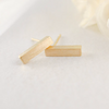 tiny slim bar earrings in gold or silver, gold bar earrings, silver bar earrings, bar post, bar studs