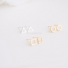 Square/Triangle/circle Earrings, bridesmaid gift, geometric studs, minimal jewelry, tiny simple studs