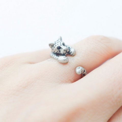 cheetah ring, leopard ring, tiger ring, burnish ring, lucky ring size 5 ~ 9 us