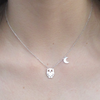 Owl Necklace With Moon