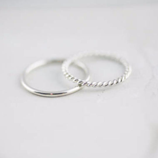 sterling silver band stack ring