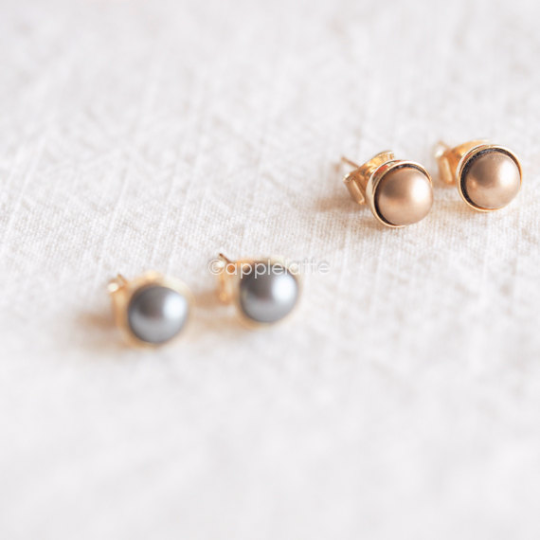 gray listing earrings bridesmaid pearl teardrop il grey