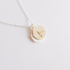 Bird Necklace With Circle Charm