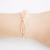 Bow Bangle Bracelet, Bow Jewelry, Bridesmaid Jewelry, Tie the Knot Bridesmaid Gift