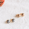 Gold Bronze Pearl Earrings, Black Grey Pearl Earrings, Swarovski Pearl, Bridesmaid Earrings, 6mm Pearl Post Earrings, Bridesmaid Gift_E003