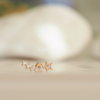 14K Solid Rose Gold Star Earring_PS196
