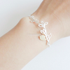 bird on a branch bracelet, leaf Bracelet, bridesmaid bracelet, Mother's day gift, wedding gift, bridesmaid gift