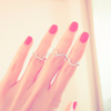 geometric cubic knuckle Ring, midi stacking ring ,square ring, chevron ring, round ring