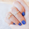 cross ring, cross knuckle ring, cross pinky ring, cross midi ring in gold or silver