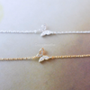crystal butterfly bracelet in gold or silver