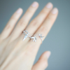 Double Bird Ring, twin birds ring, bird couple ring, sparrows ring, bird ring, bird jewelry, best friends ring, wedding, bridesmaid gift