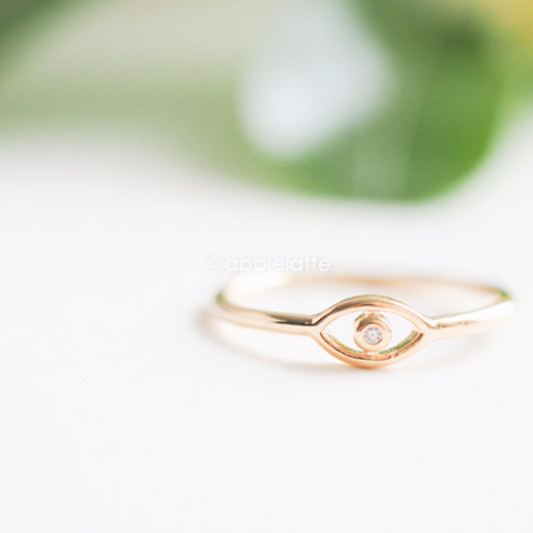 evil eye knuckle ring, evil eye midi ring, gold evil eye ring, silver evil eye ring, rose gold evil eye ring, protective ring, hamsa ring