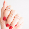 simple double line knuckle band, simple midi ring, knuckle ring, simple band in gold, silver or rose gold