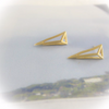 edged Triangle earrings in gold