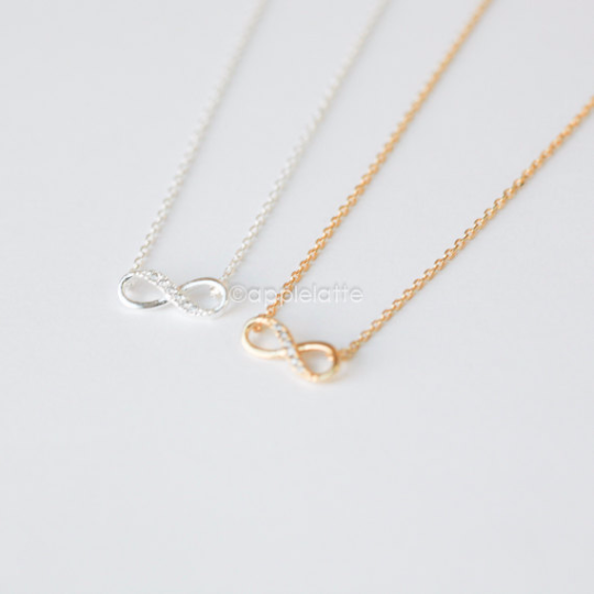 Crystal Infinity Necklace