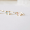 pastel enamel butterfly ring, white butterfly ring, blue butterfly ring, pink butterfly ring