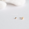 14K Solid Yellow Gold Flower Ear Piercing_PG008