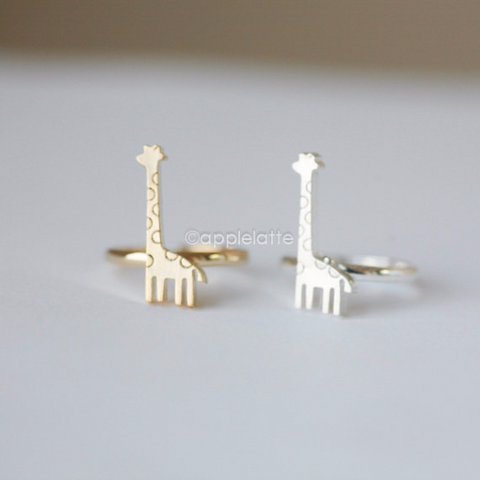 giraffe ring in Gold or silver