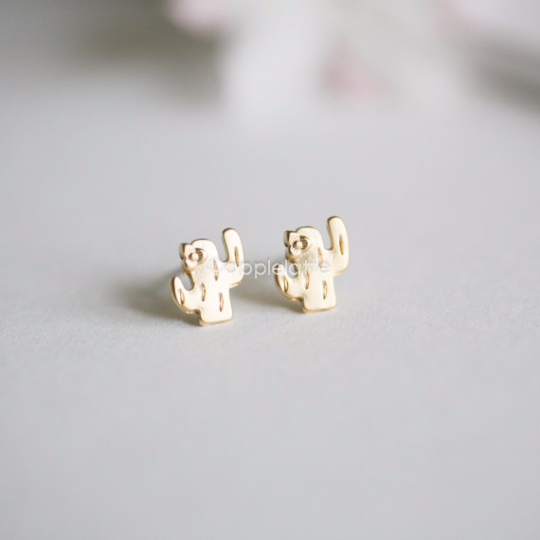 cactus earrings, cactus post earrings, southwestern jewelry, saguaro earrings