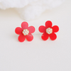 red flower earrings, red earrings, red jewelry, bridesmaid gift