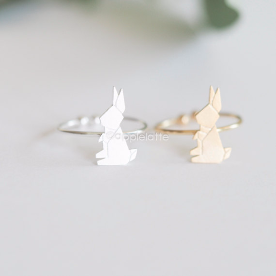 bunny ring, rabbit ring, bunny rabbit ring, animal wrap ring, adjustable ring, free size