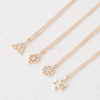 Star,Triangle,Circle,Rhombus Necklace