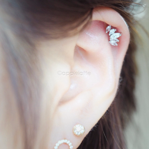 CZ Angel Wing Cartilage Piercing_P021